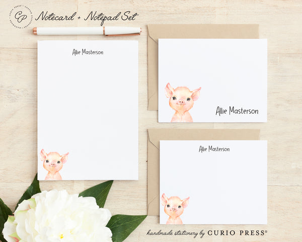 Baby Animals: Folded + Flat + Notepad Set - Curio Press
