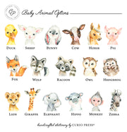 Baby Animal: Flat Card + Notepad Set - Curio Press