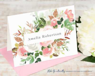 Blush Corner: Folded Card Set