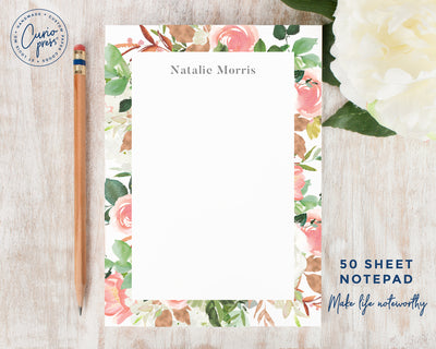 Blush Border: Notepad