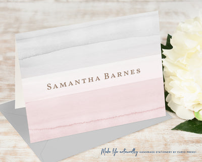 Blush and Gray: Folded Card Set