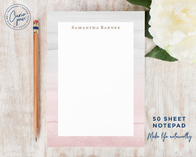Blush and Gray: Notepad