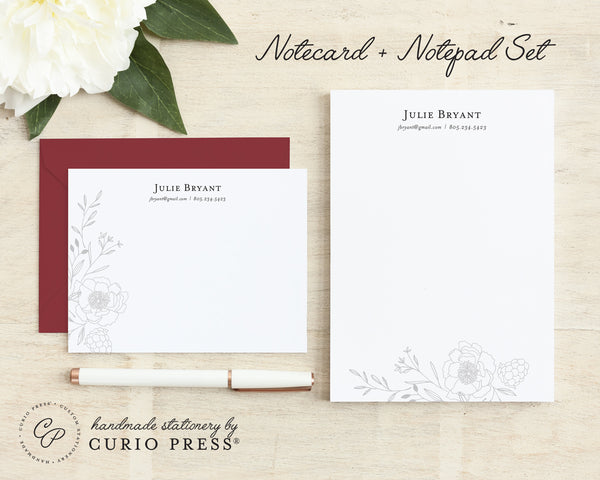 Botanical: Flat Card + Notepad Set - Curio Press