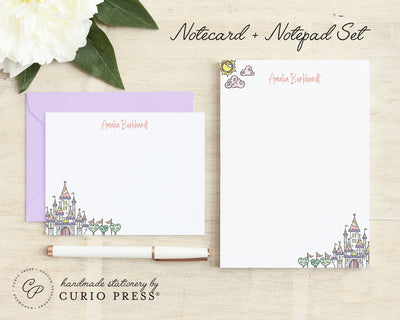 Castle 2-Piece Set: Flat Card + Notepad Set - Curio Press