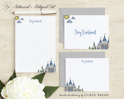Castle 3-Piece Set: Folded + Flat + Notepad Set - Curio Press