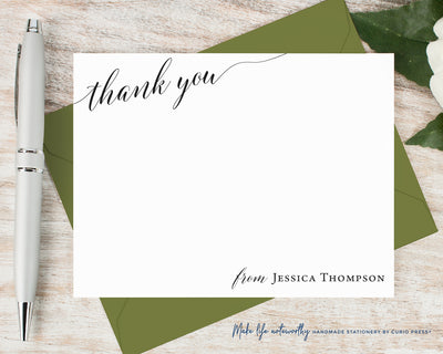 Chic Thank You: Flat Card Set