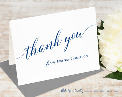 Chic Thank You: Folded Card Set