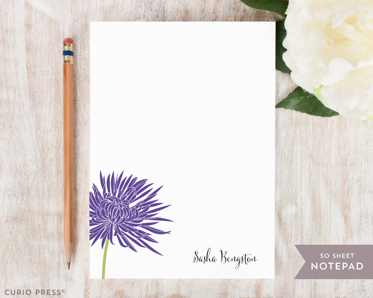 Chrysanthemum Solid: Notepad - Curio Press