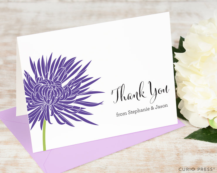 Chrysanthemum Thank You: Folded Card Set - Curio Press