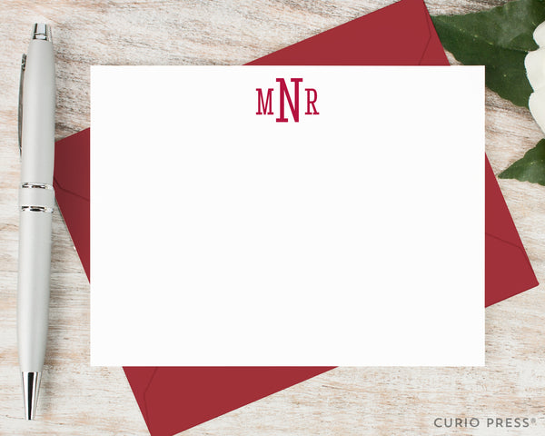 Classic Monogram: Flat Card Set - Curio Press