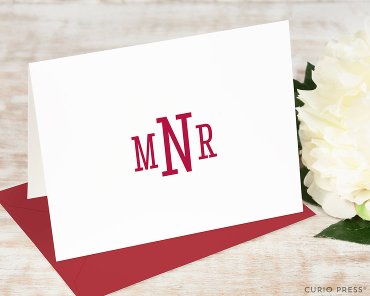 Classic Monogram: Folded Card Set - Curio Press