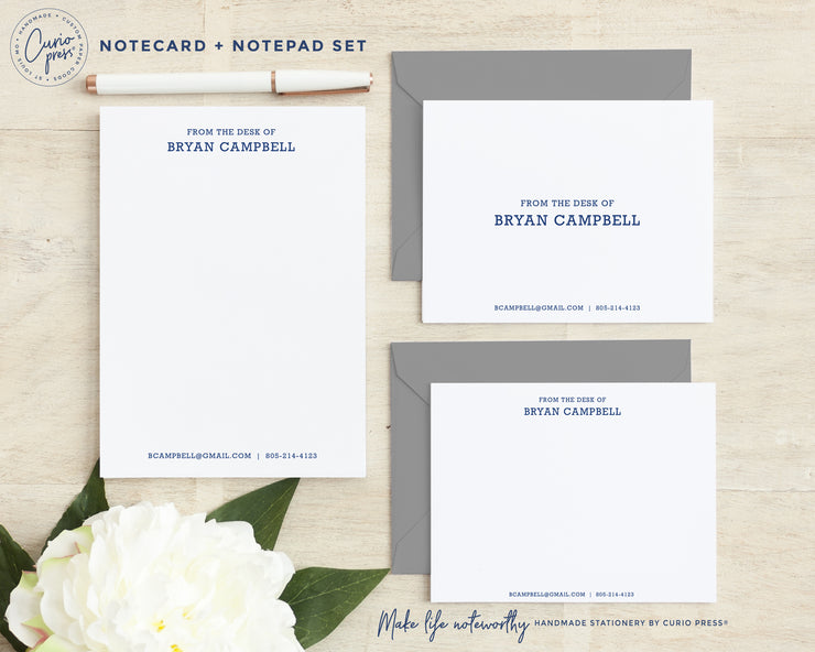 Classic Notes 3-Piece Set: Folded + Flat + Notepad Set
