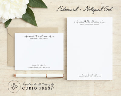 Classy Mom: Flat Card + Notepad Set - Curio Press