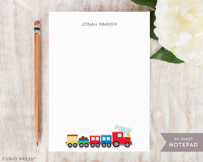 Coloring Train: Notepad - Curio Press