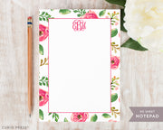 Coral Monogram: Notepad - Curio Press