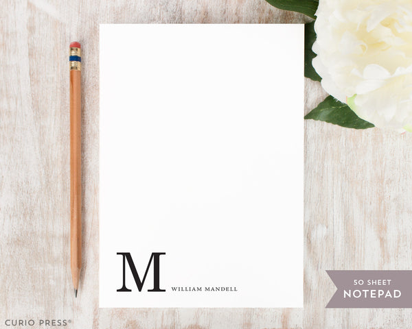 Corner Monogram: Notepad - Curio Press