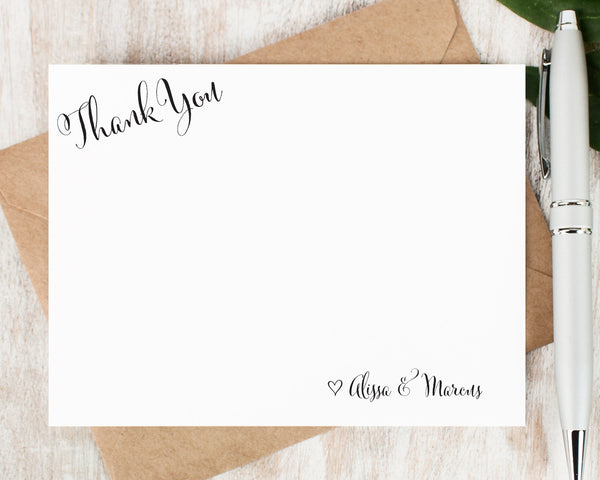 Corner Thank You: Flat Card Set - Curio Press