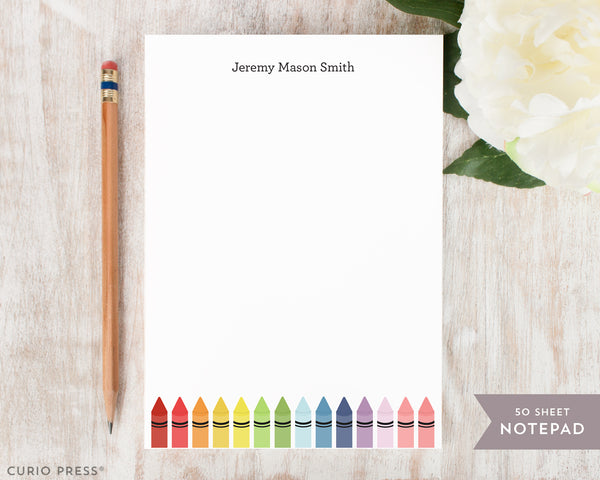 Crayons: Notepad - Curio Press