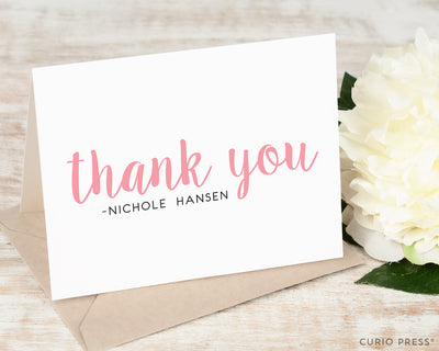 Cute Thank You: Folded Card Set - Curio Press