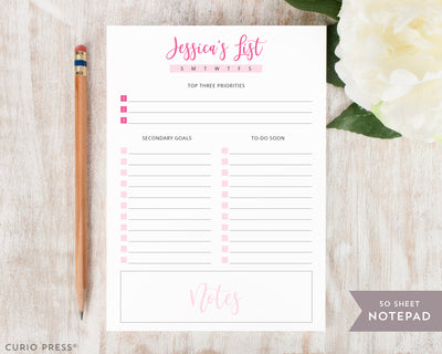 Daily Plan: Notepad - Curio Press