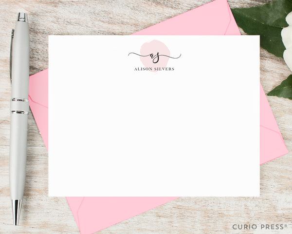 Delicate Monogram: Flat Card Set - Curio Press