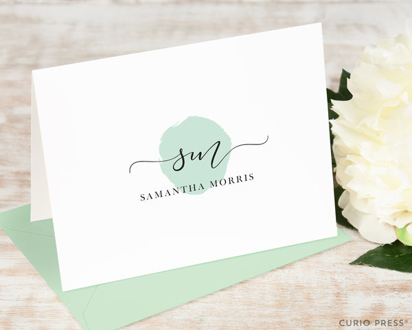 Delicate Monogram: Folded Card Set - Curio Press