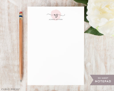 Delicate Monogram: Notepad - Curio Press