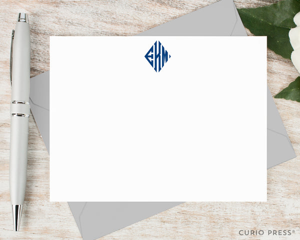 Diamond Monogram: Flat Card Set - Curio Press