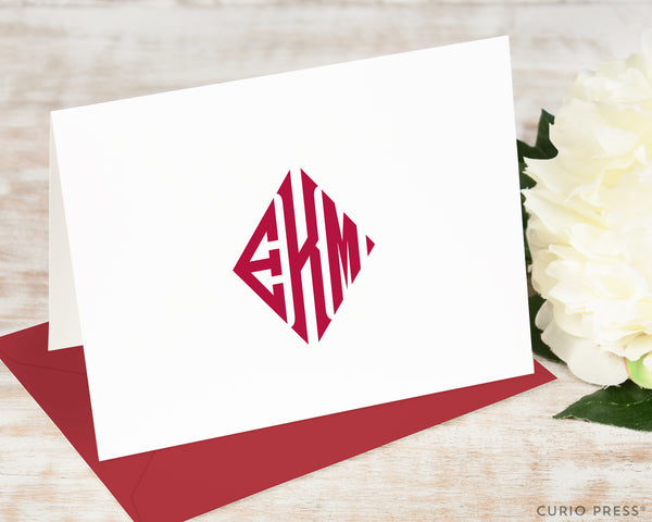 Diamond Monogram: Folded Card Set - Curio Press