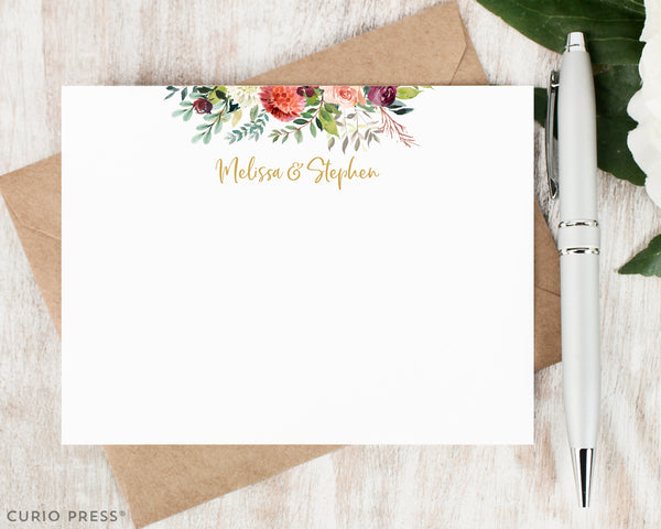 Divine Floral Frame: Flat Card Set - Curio Press