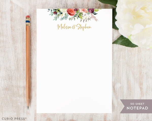 Divine Floral Frame: Notepad - Curio Press