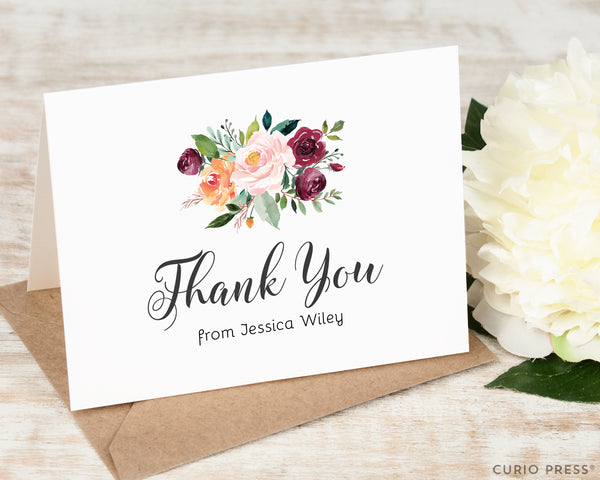 Divine Florals Thank You: Folded Card Set - Curio Press