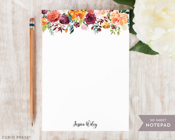 Divine Florals: Notepad - Curio Press