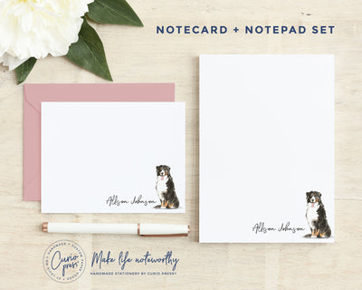 Dogs: Flat Card + Notepad Set