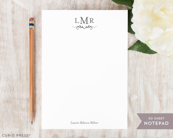 Dot Monogram: Notepad - Curio Press