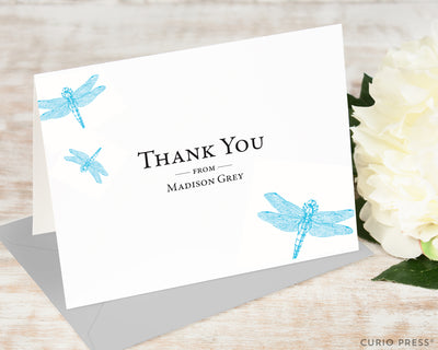 Dragonfly Thank You: Folded Card Set - Curio Press