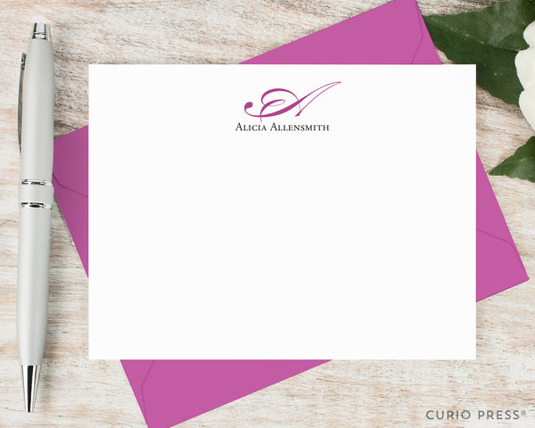 Elegant Monogram: Flat Card Set