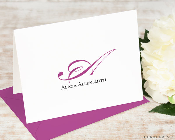Elegant Monogram: Folded Card Set