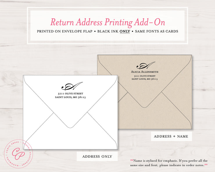 Elegant Monogram: Flat Card Set - Curio Press