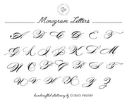 Elegant Monogram 3-Piece Set: Flat + Folded Cards + Notepad - Curio Press