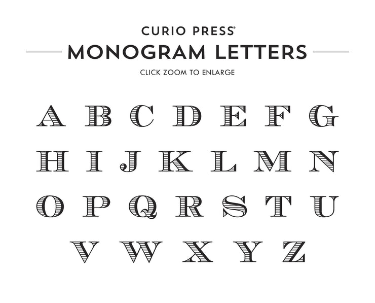 Engraved 3 Letter Monogram: Notepad - Curio Press