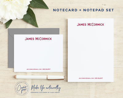 Essentials 2-Piece Set: Flat Card + Notepad Set