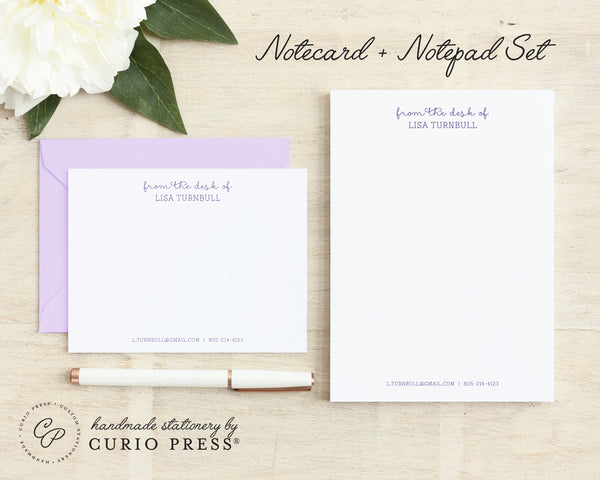 Fancy Notes: Flat Card + Notepad Set - Curio Press
