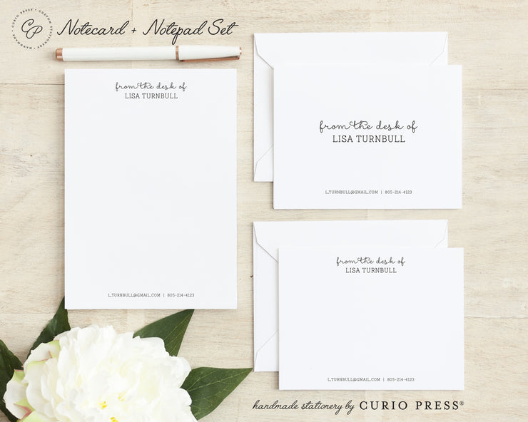 Fancy Notes: Folded + Flat + Notepad Set - Curio Press