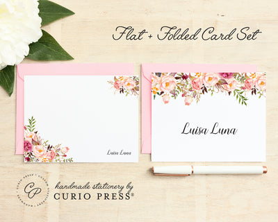 Painted Florals I: Folded + Flat Card Set