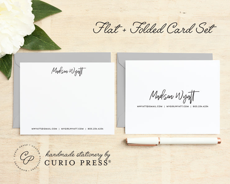 Signature: Folded + Flat Card Set