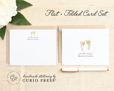 Footprints: Folded + Flat Card Set - Curio Press