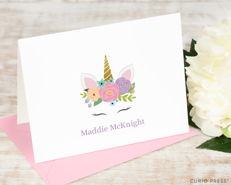 Flower Unicorn: Folded Card Set - Curio Press