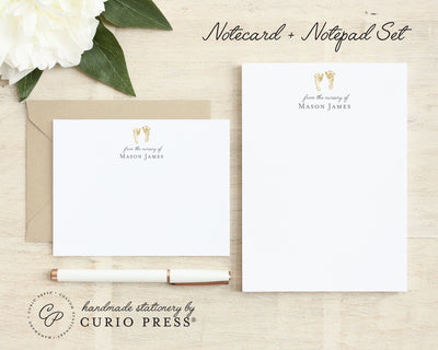 Footprint: Flat Card + Notepad Set - Curio Press
