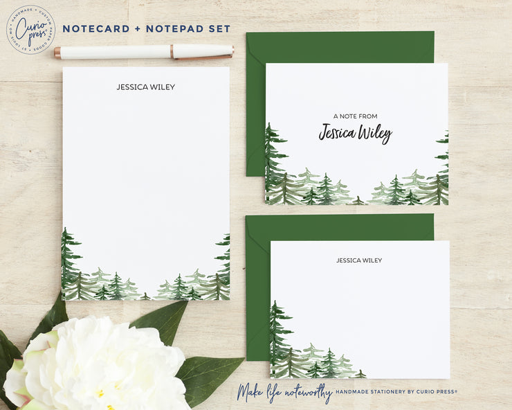 Forest: Folded + Flat + Notepad Set